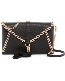Astor Leather Whipstitch Clutch