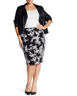 Delicate Foliage Skirt (plus Size)