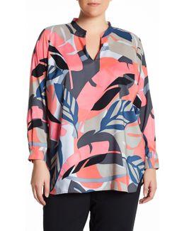Modern Tropics Tunic Blouse (plus Size)