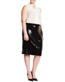 Sequin Pencil Skirt (plus Size)