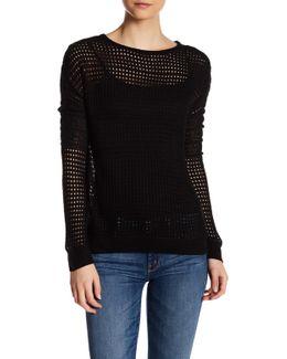Open Knit Long Sleeve Sweater