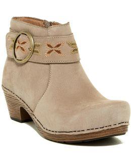 Mina Milled Nubuck Ankle Boot