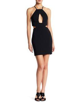 Etta Halter Side Cutout Dress