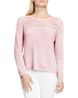 Pointelle Yoke Sweater