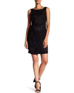 Embellished Crepe V-back Short Dress