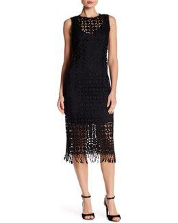 Sleeveless Crochet Fringe Dress