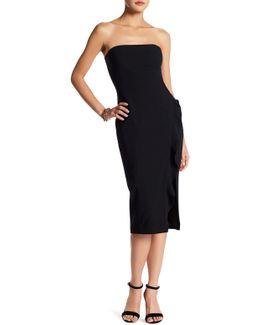 Memphis Strapless Ruffle Trim Dress