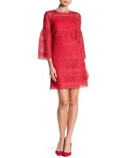 3/4 Sleeve Crochet Dress