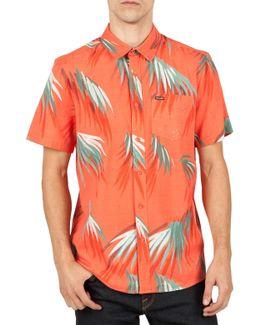 Maui Palm Cotton Blend Woven Shirt