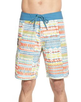 'chipper' Print Board Shorts