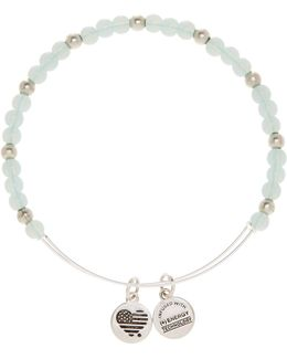 Color Classics Bluebell Beaded Extendable Wire Bangle