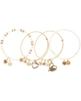 International Exclusive Alive Swarovski Crystal Extendable Wire Bangles - Set Of 4