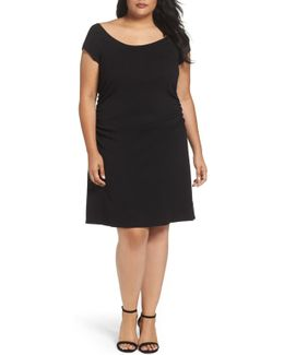Side Ruched A-line Jersey Dress