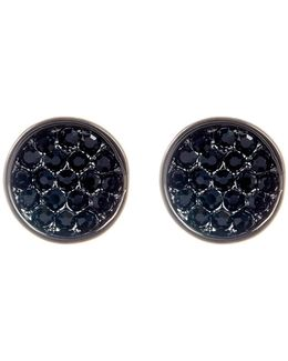 Pave Circle Earrings