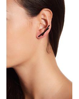 Pave Crisscross Earrings