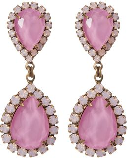 Abba Pave Marquise Cut Stone Drop Earrings