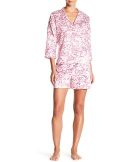 Mazed Shirt & Short Pajama Set