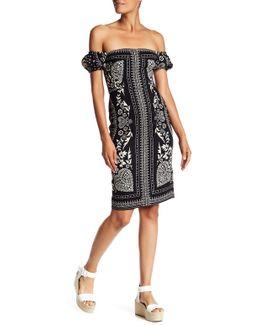 Off-the-shoulder A-line Dress