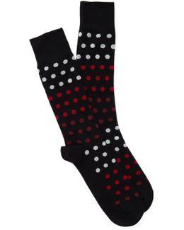 Gradient Dot Crew Socks