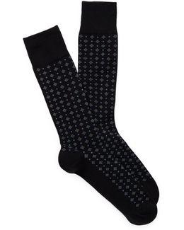 Diamond Neat Socks