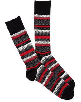 Fairlisle Crew Socks