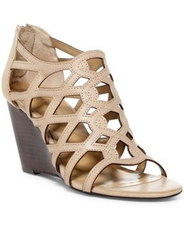 Alby Caged Wedge Sandal