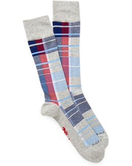 Plaid Crew Socks