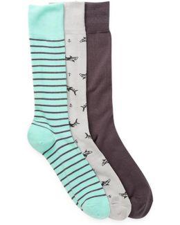 3-pair Novelty Socks