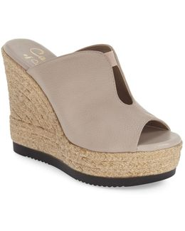'alessa' Platform Wedge Slide Sandal (women)