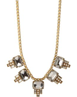 Alex Emerald Cut Charm Box Chain Necklace
