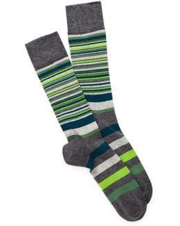 Town Stripe Crew Socks