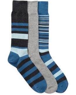 3-pair Town Stripe Socks