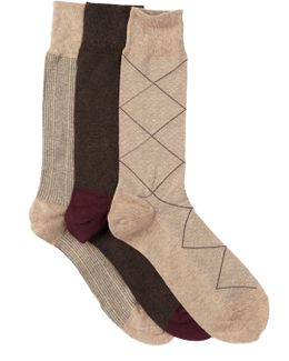 Modern Diamond Crew Socks - Pack Of 3