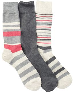 Town Stripe Crew Socks - Pack Of 3