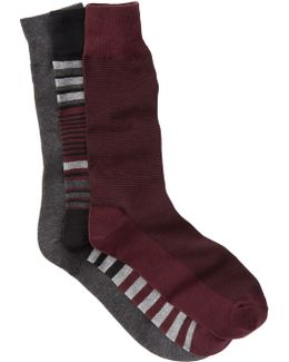 Multi-striped Crew Socks - Pack Of 3