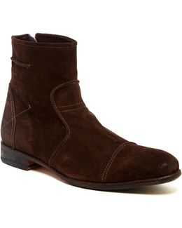 Cap Toe Leather Boot
