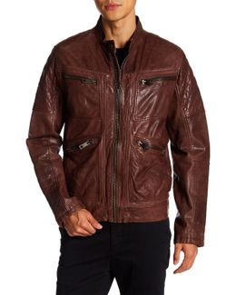 Weston Quilted Leather Moto Jacket