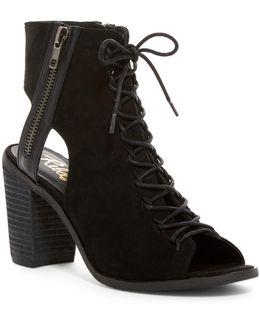 Amelia Suede Open Toe Bootie Sandal