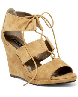 Andra Lace Wedge Sandal