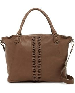 Anessa Leather Laser-cut Vintage Tote