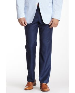 "Tyler Blue Sharkskin Wool Dress Pant - 30-34"" Inseam"