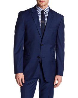 Adams Navy Woven Two Button Notch Lapel Sportcoat