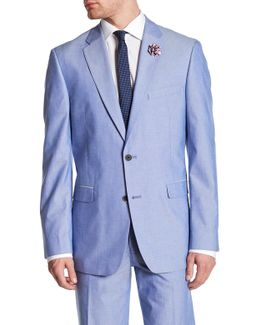 Polk Blue Woven Two Button Notch Lapel Sportcoat