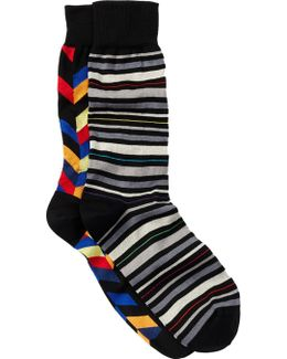 Printed Socks - Pack Of 2