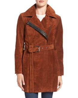 Sienna Suede Belted Trench Coat