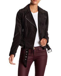 Jessi Suede Moto Jacket