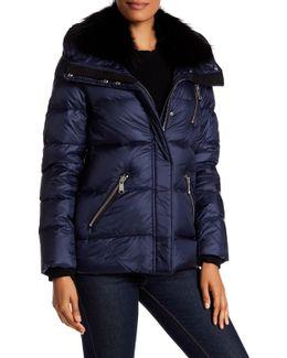 Chloe Genuine Fox Fur Quilted Jacket