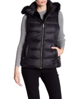 Serena Reversible Genuine Fur Trim vest