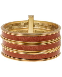 The Titaness Leather Bangle Bracelet