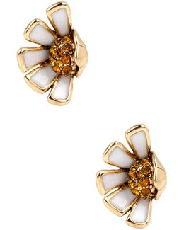 Half Daisy Stud Earrings